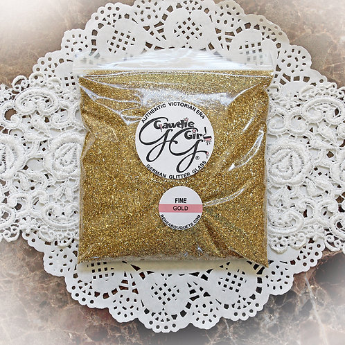 1 Pound Bag Gawdie Girl Gold Fine German Glitter Glass