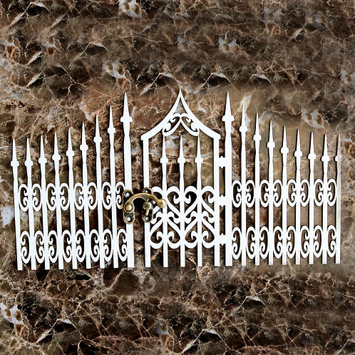 Beautiful Board Large Gothic Gate Laser Cut Chipboard
