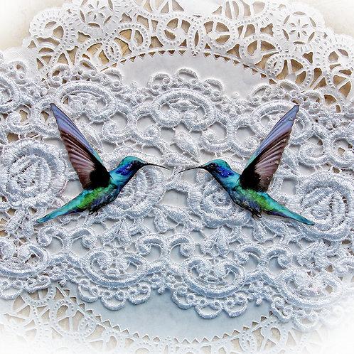 Magical Hummingbird Premium Paper Die Cut Set Of 2