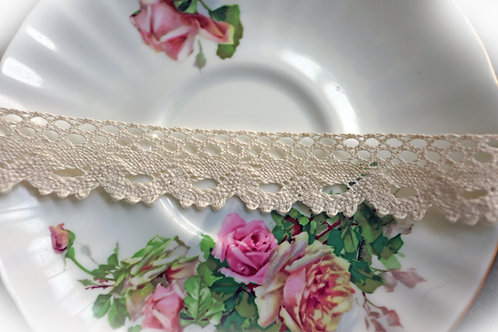 Natural Cotton Crochet Lace-Cluny Lace 002