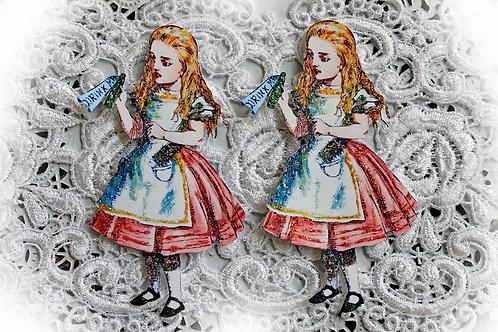 Vintage Alice In Wonderland Embellishment 4.25x2.5