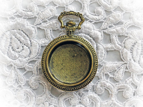 Reneabouquets Tarnished Brass Pocket Watch