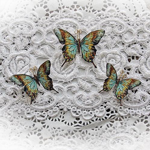 Secret Garden Premium Paper Glitter Glass Butterflies