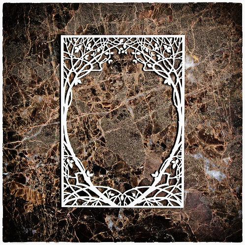Beautiful Board Small Tree Of Life Frame Laser Cut Chipboard