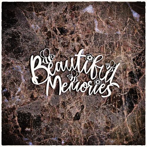 Beautiful Word Large Beautiful Memories Laser Cut Chipboard