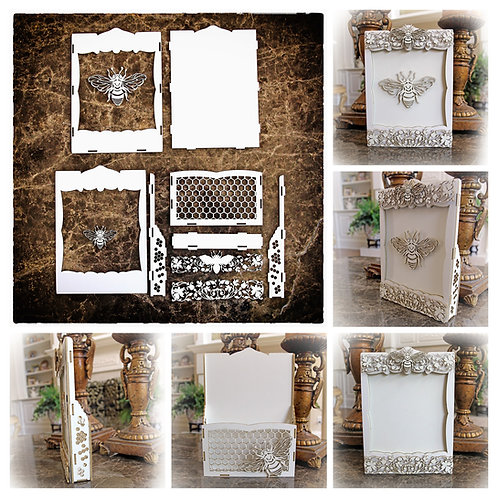 Beautiful Board Honey Bee Loaded Card, Tag or Frame Chipboard Kit
