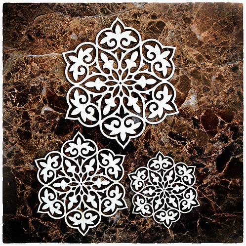 Beautiful Board April In Paris Doily One Set Of 3 Laser Cut Chipboard