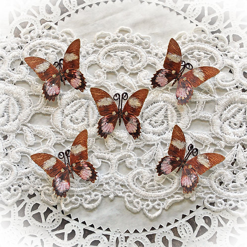 Tiny Treasures Debutante Glitter Glass Premium Paper Butterflies