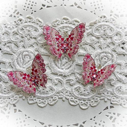 Love Potion Glitter Glass Butterflies