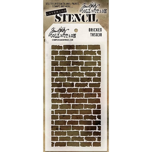 Tim Holtz Layering Stencil-Bricked