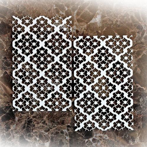 Beautiful Board Heart Lattice Elements Laser Cut Chipboard