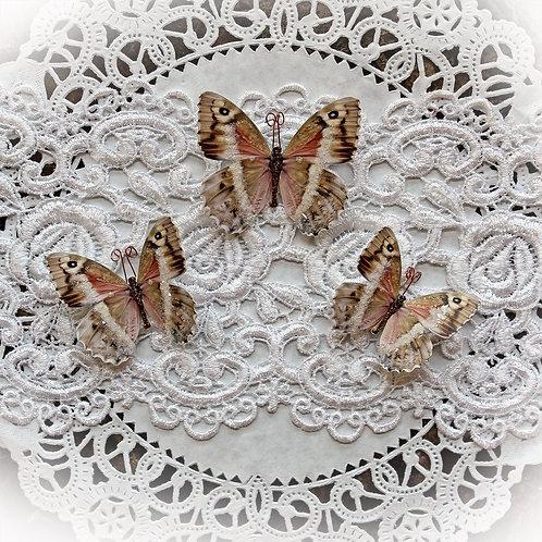 Rose Quartz Premium Paper Glitter Glass Butterflies