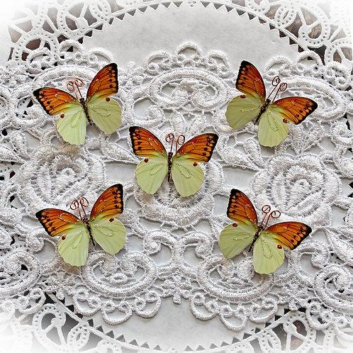 Tiny Treasures Citrine Quartz Premium Paper Butterflies