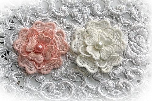 Reneabouquets Trim-3 Layer Flower Appliques