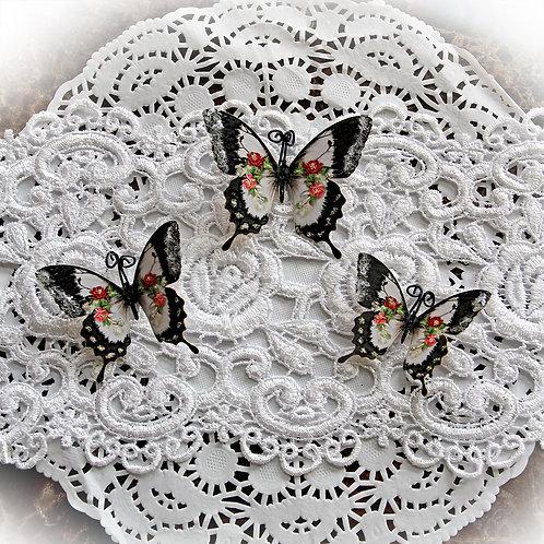 Viola's Precious Keepsakes Glitter Glass Premium Paper Butterflies