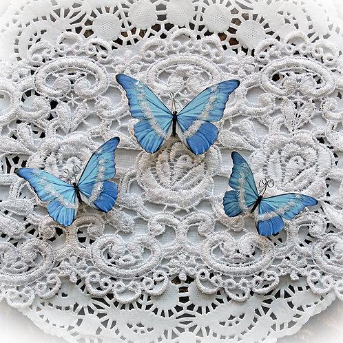 Ice Fairy Premium Paper Glitter Glass Butterflies