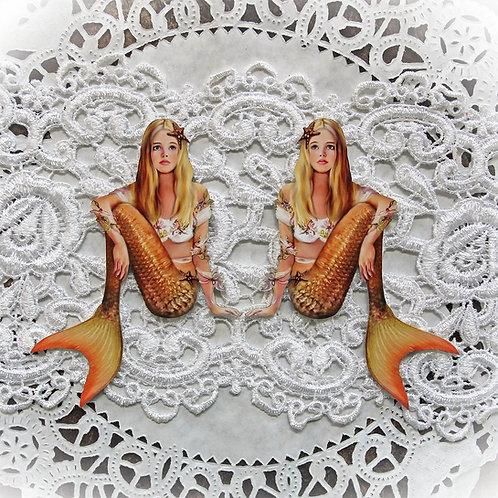 Printed Beautiful Board Large Sunkissed Starfish Mermaid  Chipboard