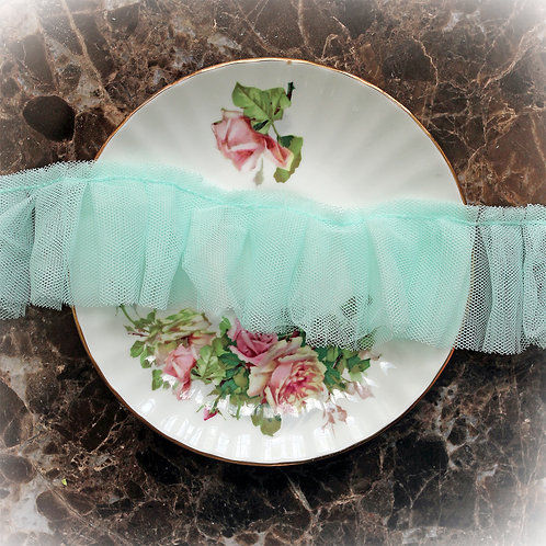 Reneabouquets Trim-Soft Mint Pleated Tulle