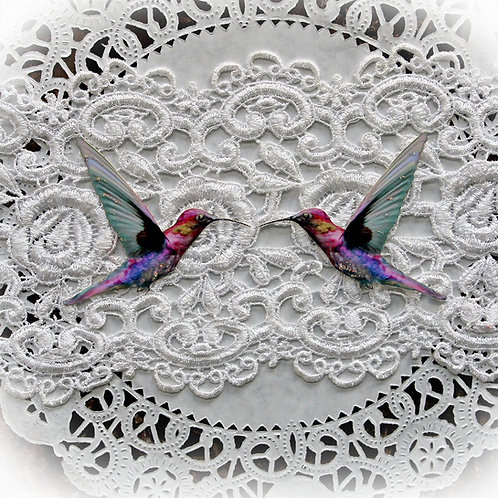 Majestic Hummingbird Premium Paper Die Cut Set Of 2