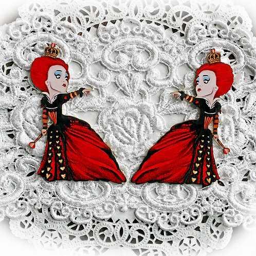 Printed Beautiful Board Small Red Queen Laser Cut Chipboard Die Cut