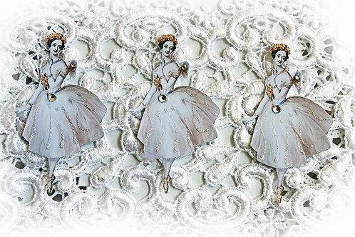 Vintage Ballerina Fairy #2 Premium Paper Die Cuts