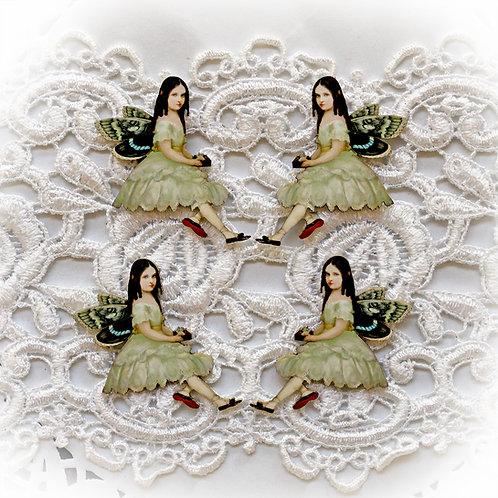 Beautiful Board Fairy Bell Itty Bitty Chipboard Set
