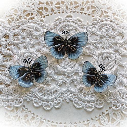 Frosty Kisses Premium Paper Glitter Glass Butterflies