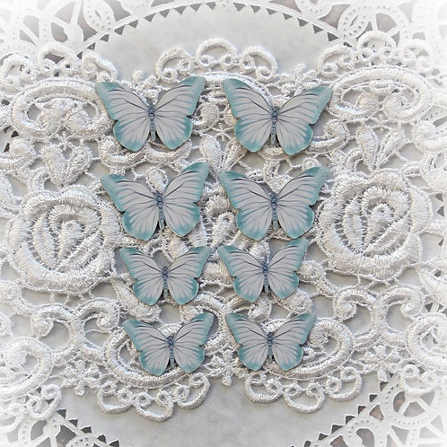 Magical Miniatures Teal Fairy Dust Double Side Printed Butterflies