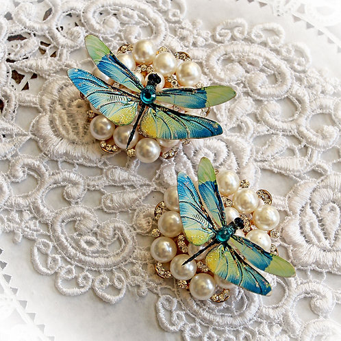 Mystic Topaz Premium Paper Dragonflies