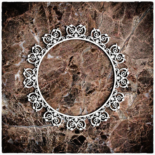 Beautiful Board Large Heart Deco Circle Frame Laser Cut Chipboard