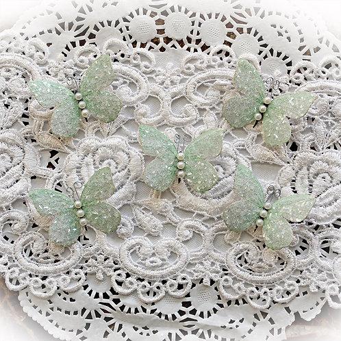 Tiny Treasures Sweet Pea Soft Green Premium Paper Glitter Glass