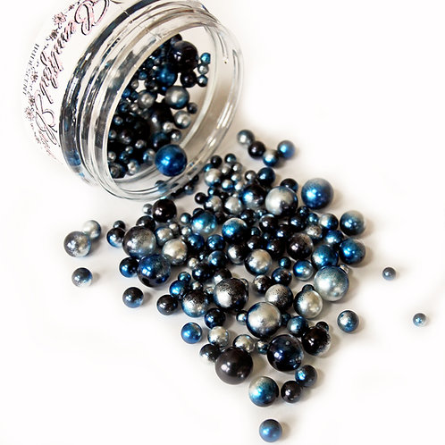 1 .8 Ounce Beautiful Beads Midnight Magic Iridescent Pearls