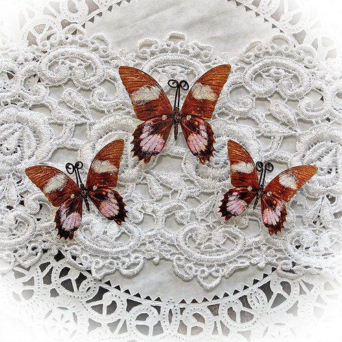 Debutante Glitter Glass Premium Paper Butterflies