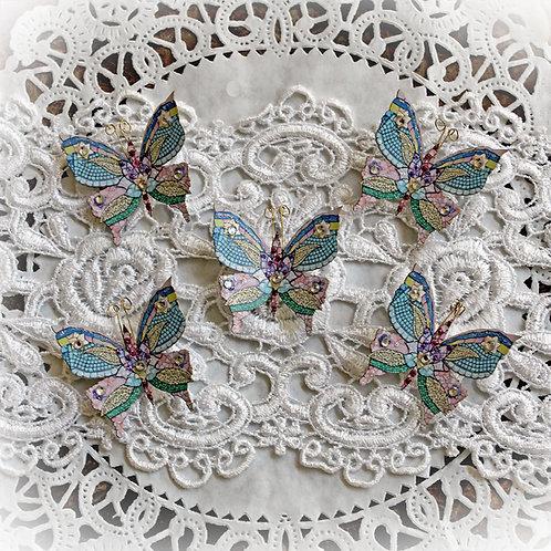 Tiny Treasures Mosaic Tea Cup Premium Paper Butterflies