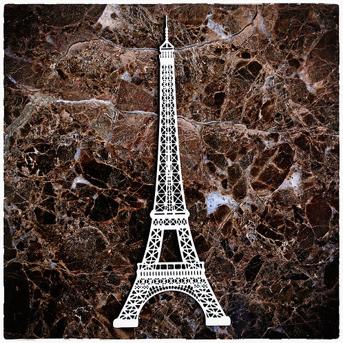 Beautiful Board Small Eiffel Tower Laser Cut Chipboard