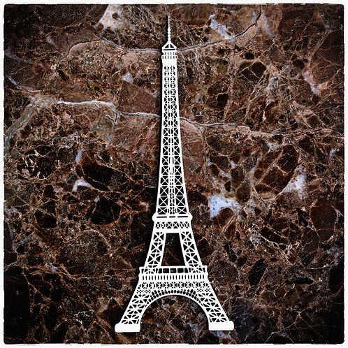 Beautiful Board Large Eiffel Tower Laser Cut Chipboard