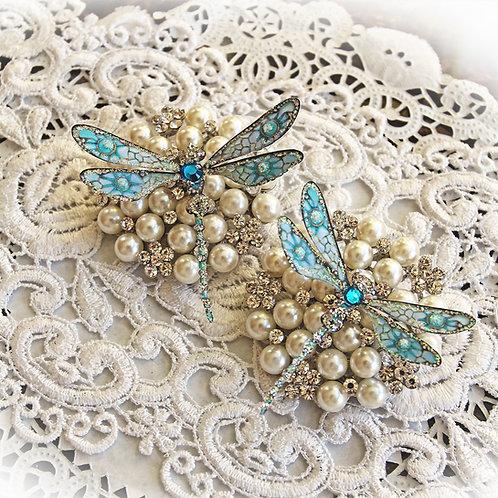 To Uranus And Back Premium Paper Dragonflies