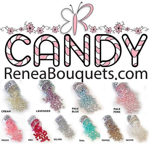 1.8 Ounce Beautiful Beads Candy Choose Color Flatback Pearls