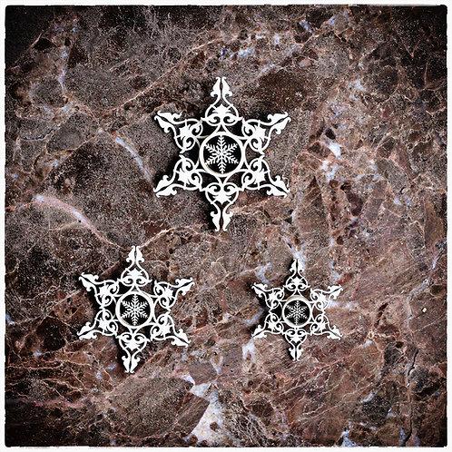 Beautiful Board Dimensional Snowflakes Laser Cut Chipboard