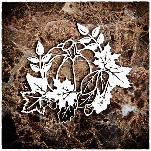 Beautiful Board Pretty Fall Pumpkin Laser Cut Chipboard