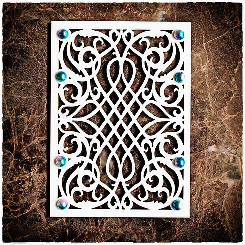 Beautiful Board Wrought Iron Panel 5 x 7  Laser Cut Chipboard