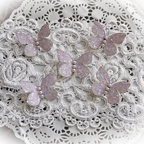 Tiny Treasures Sweet Pea Lavender Premium Paper Glitter Glass