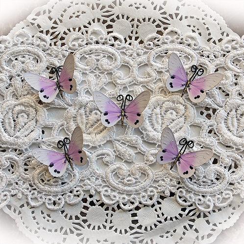 Tiny Treasures Sweet Dreams~Premium Paper Lavender Butterflies
