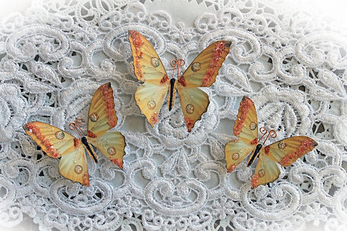 Memory Box Premium Paper Glitter Glass Butterflies