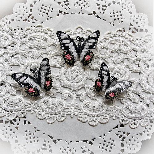 Rosabel Premium Paper Glitter Glass Butterflies