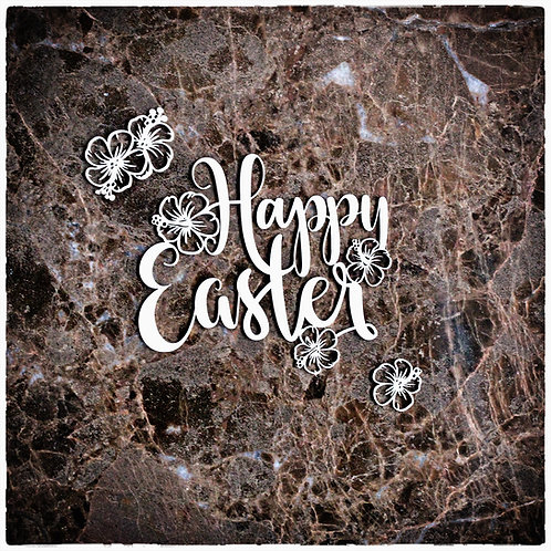 Beautiful Word Large Happy Easter Laser Cut Chipboard