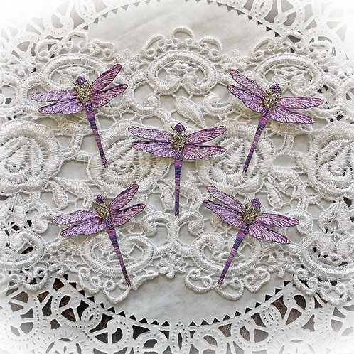 Tiny Treasures Suncatcher Purple Premium Paper Glitter Glass Drago