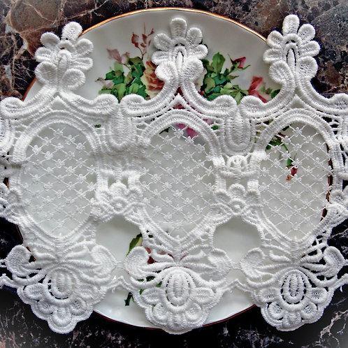 Garden Lattice Lace~White 5 1/2 Inch Wide