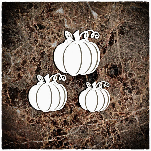Beautiful Board Small Pumpkin Patch Set Laser Cut  Chipboard