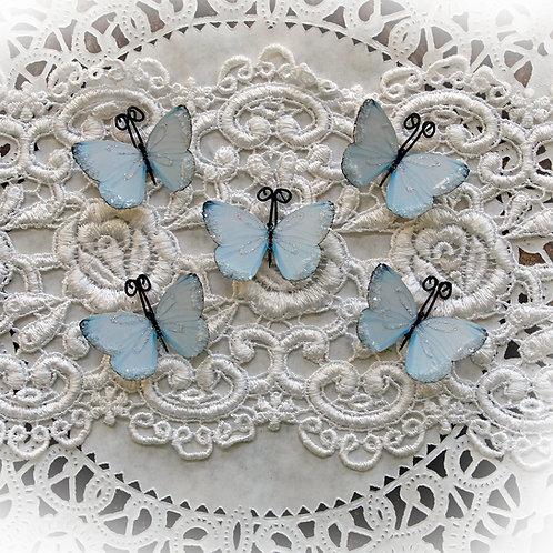 Tiny Treasures Darling Blue Premium Paper Glitter Glass